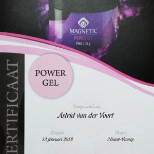 Certificaat Astrid powergel