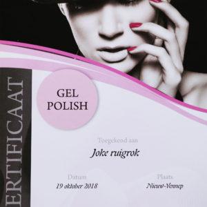 Certificaat Joke gel polish